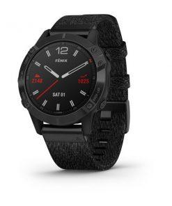 GARMIN ZEGAREK fēnix 6 – Pro i Sapphire Czarny z powłoką węglową (DLC) i czarny nylonowym paskiem