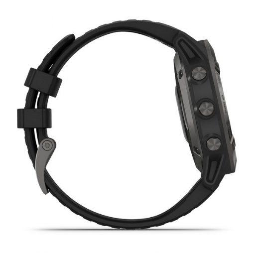 GARMIN ZEGAREK fēnix 6X – Pro i Sapphire Sapphire, szary z powłoką węglową (DLC) i czarnym paskiem