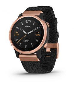 GARMIN fēnix® 6S Pro and Sapphire Różowozłoty z fioletową-czarnym nylonowym paskiem