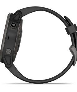 GARMIN fēnix® 6S Pro and Sapphire Szary z powłoką węglową (DLC) i czarnym paskiem